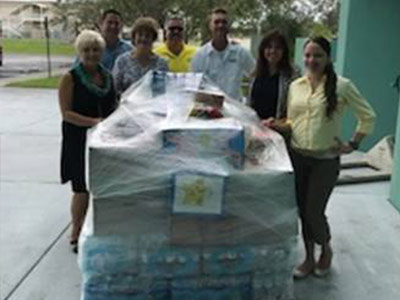 CCTC staff and students organized a food and water drive to help the victims of Hurricane Maria in Puerto Rico